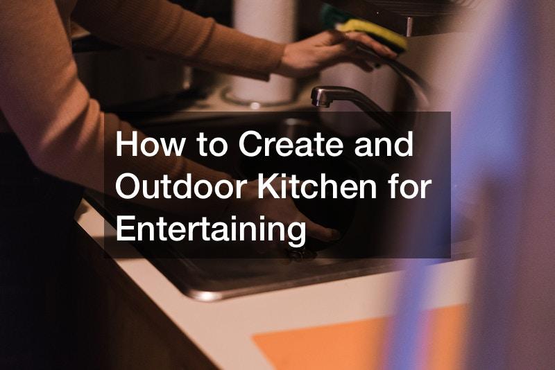 Outdoor bar kitchen areas
